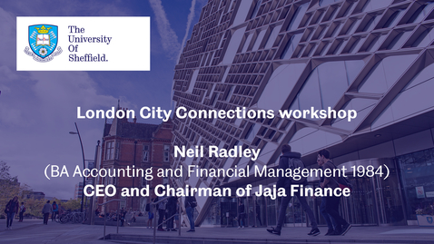 Thumbnail for entry London City Connection 2021 - Workshop 1 - Neil Radley