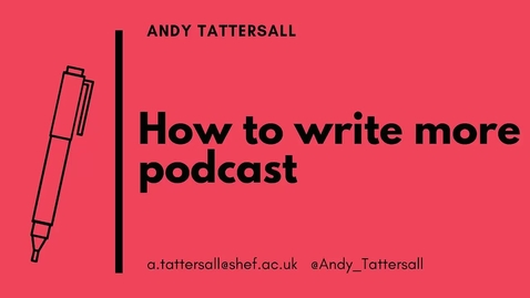 Thumbnail for entry How to Write More podcast