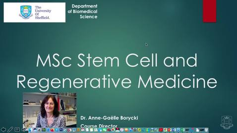 Thumbnail for entry MSc Stem Cell and Regenerative Medicine