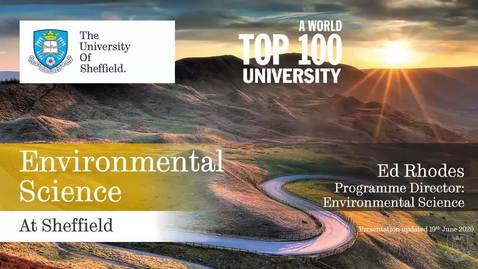 Thumbnail for entry Environmental Science at Sheffield
