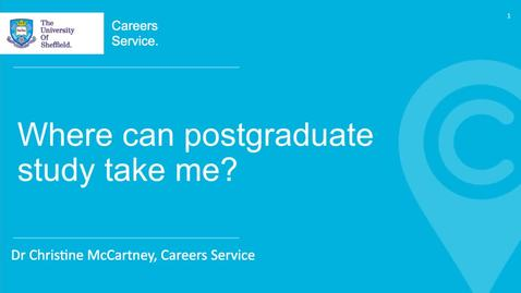 Thumbnail for entry Where Can Postgraduate Study Take Me?