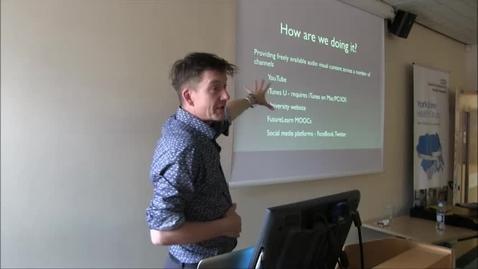 Thumbnail for entry Dr Graham McLearney - Digital Media Options