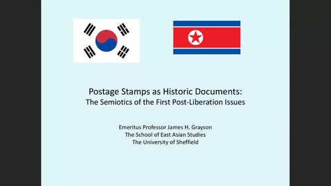Thumbnail for entry SEAS Research Seminar: Postage stamps as hitorical documents