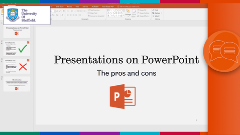 Thumbnail for entry Presentations on PowerPoint