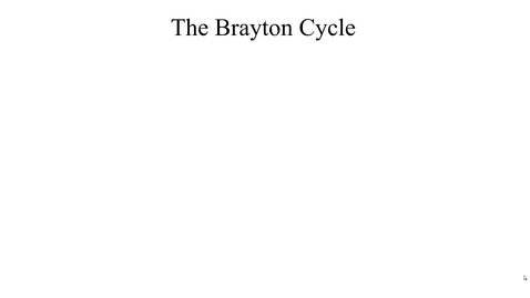 Thumbnail for entry 14a The Brayton cycle