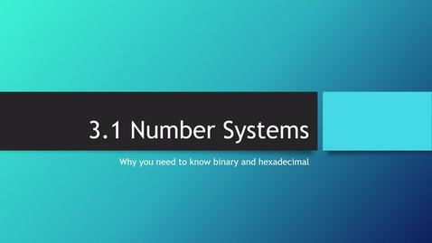 Thumbnail for entry 2.1NumberSystems