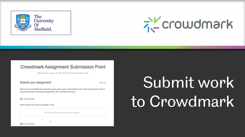 Thumbnail for entry How to submit work to  Crowdmark