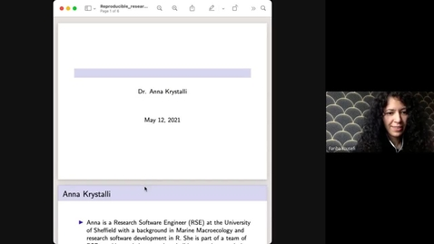 Thumbnail for entry Lunch bytes #6: Putting the R into Reproducible Research