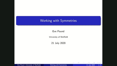 Thumbnail for entry Working with Symmetries - Maths Undergraduate talk