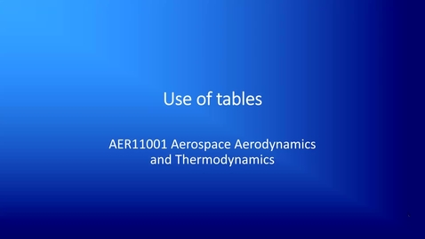 Thumbnail for entry 8c  Use of thermodynamic tables