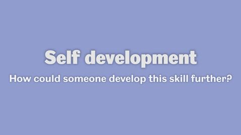 Thumbnail for entry Self development 3