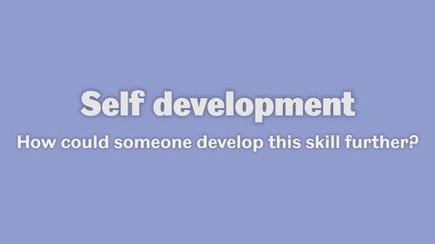 Thumbnail for entry Self development 3