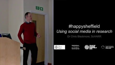 Thumbnail for entry Dr Chris Blackmore - #HappySheffield