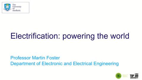 Thumbnail for entry EEE Mini-lecture: Electrical energy