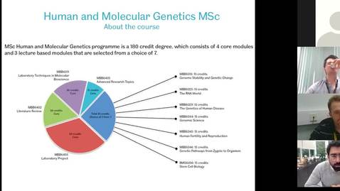 Thumbnail for entry MSc Human and Molecular Genetics - Webinar Q&A