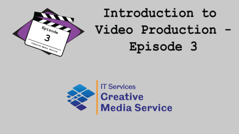 Thumbnail for entry Video Production Skilss Episode 3