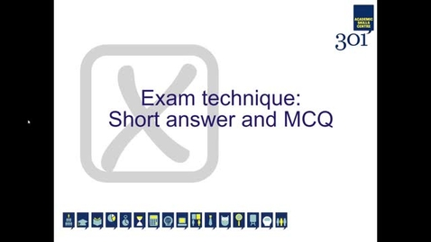 Thumbnail for entry Exam Technique: Short Answer and MCQ