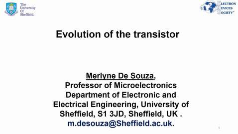 Thumbnail for entry Mini-lecture- The evolution of the transistor