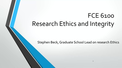 Thumbnail for entry 1 Introduction to research ethics course