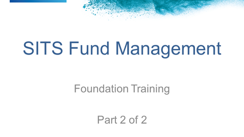 Thumbnail for entry SF Fund Manager Training 2/2 (16 Jan 19)