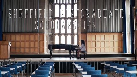 Thumbnail for entry Sheffield Postgraduate Scholarships   University of Sheffield