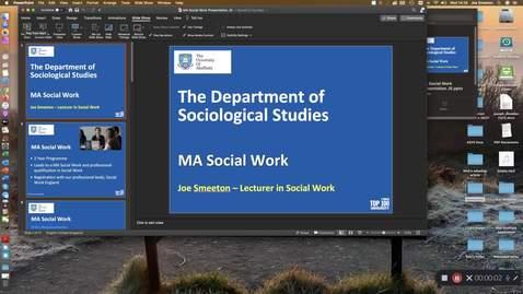 Thumbnail for entry MA Social Work