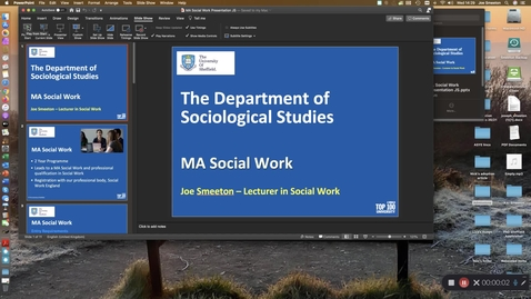 Thumbnail for entry MA Social Work
