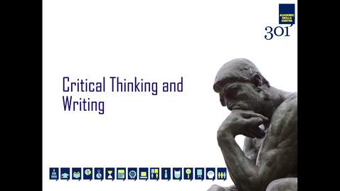 Thumbnail for entry Critical Thinking and Writing