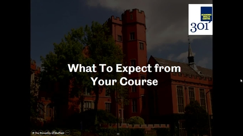 Thumbnail for entry What to Expect from Your Course - Introduction