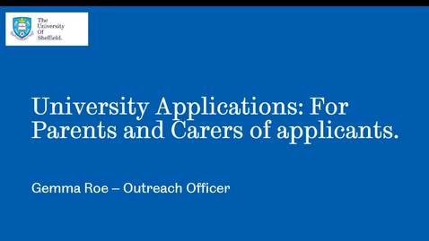 Thumbnail for entry University Applications: For Parents and Carers of applicants (HeppSY)
