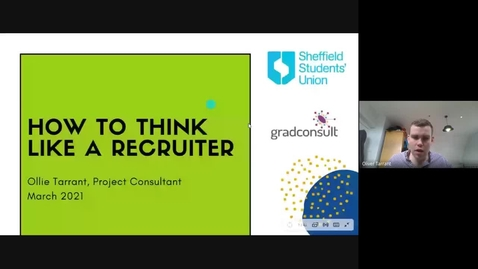 Thumbnail for entry Gradconsult - Think Like a Recruiter