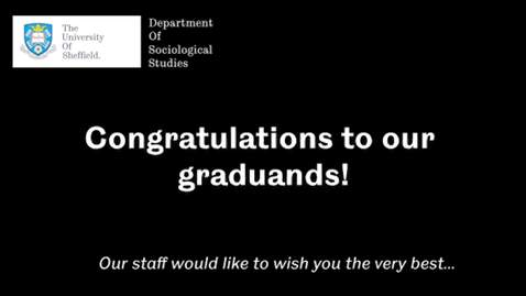 Thumbnail for entry Sociological Studies Winter Graduation January 2021