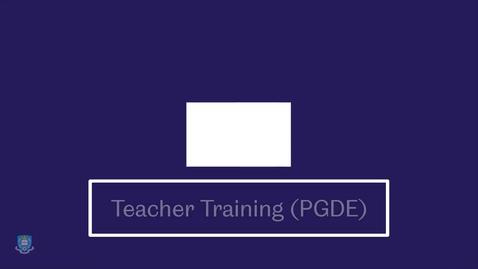 Thumbnail for entry PGDE video