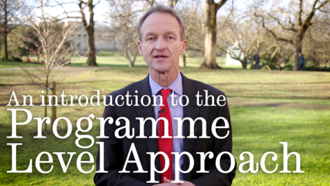 Thumbnail for entry Programme Level Approach
