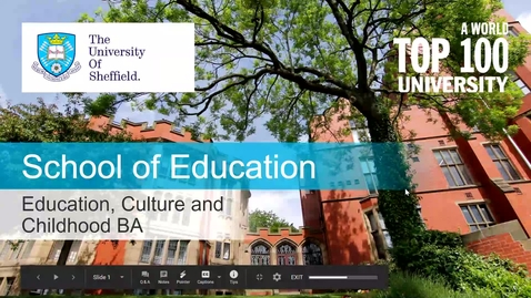 Thumbnail for entry BA Admissions Talk (Recorded February 2021)