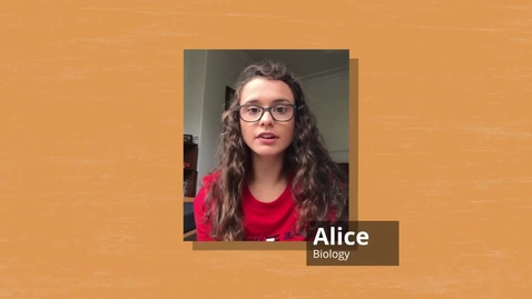 Thumbnail for entry Alice - Studying Biology