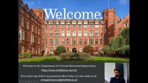 Thumbnail for entry Civil & Structural Engineering - Introduction to the Department