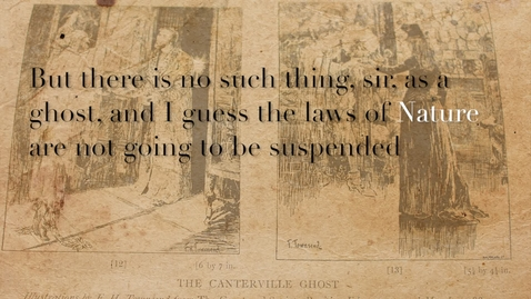 Thumbnail for entry A Close Reading of the Opening of the Canterville Ghost