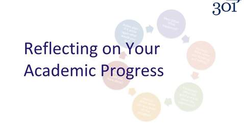 Thumbnail for entry Reflecting on Your Academic Progress