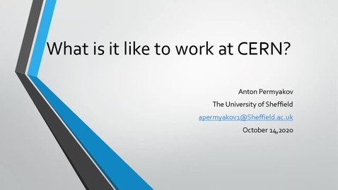 Thumbnail for entry A Year in Industry at CERN
