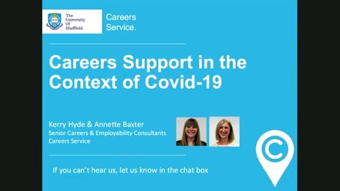 Thumbnail for entry Careers Support in the Context of Covid-19 - Elevate Staff Webinar