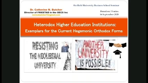Thumbnail for entry Dr Catherine Butcher presentation