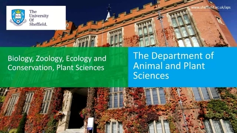 Thumbnail for entry Animal and Plant Science - Applicant Day talk