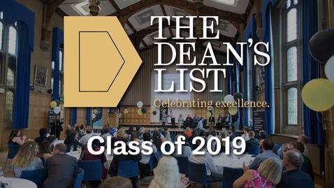 Thumbnail for entry Dean's List winners - Class of 2019 | Sheffield University Management School