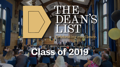 Thumbnail for entry Dean's List winners - Class of 2019 | Sheffield University Management School