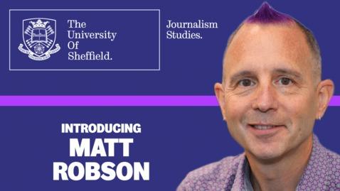 Thumbnail for entry Introducing... Matt Robson