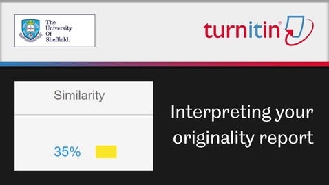 Thumbnail for entry Turnitin: interpeting your originality report (students)