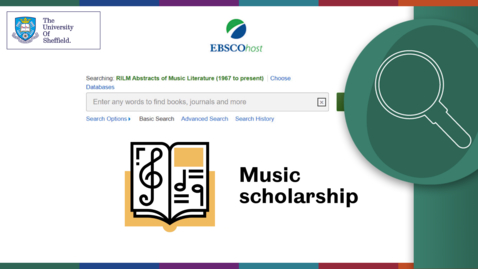 Thumbnail for entry Using RILM Abstracts of Music Literature via EBSCO