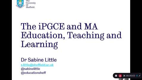 Thumbnail for entry iPGCE - MA ETL Programme Introduction