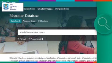 Thumbnail for entry Using Education Database